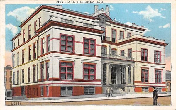 City Hall Hoboken, New Jersey Postcard