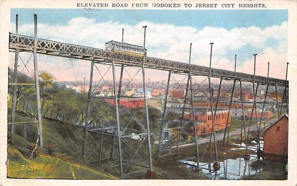 Hoboken to Jersey City Heights New Jersey Postcard