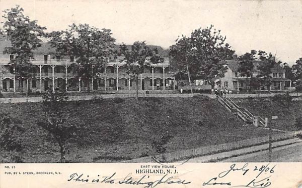 East View House Highlands, New Jersey Postcard