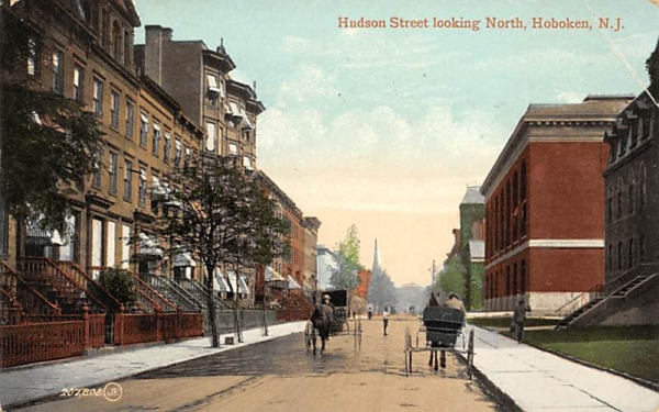 Hudson Street looking North Hoboken, New Jersey Postcard