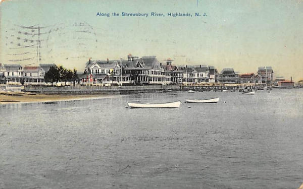 Along the Shrewsbury River Highlands, New Jersey Postcard