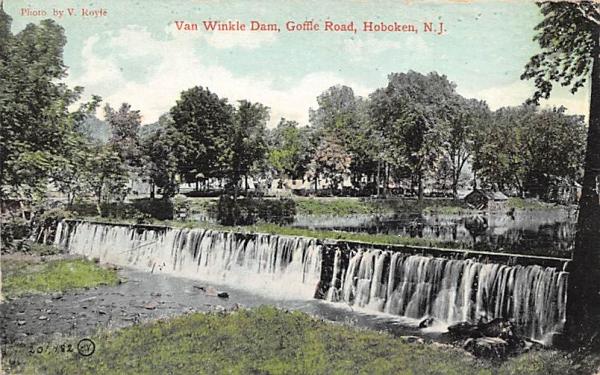 Van Winkle Dam Hoboken, New Jersey Postcard