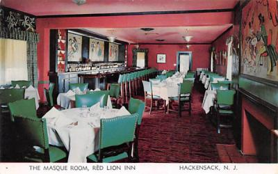The Masque Room, Red Lion Inn Hackensack, New Jersey Postcard
