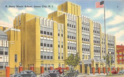 A. Harry Moore School Jersey City, New Jersey Postcard