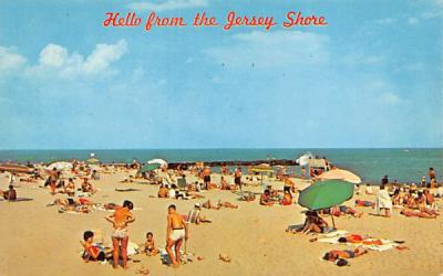 The New Jersey coastline  Postcard