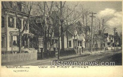 First Street  - Keyport, New Jersey NJ Postcard