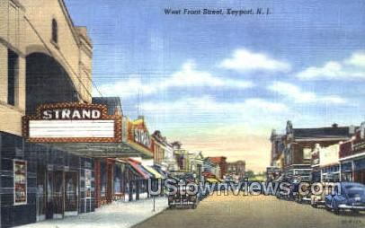 West Front Street  - Keyport, New Jersey NJ Postcard