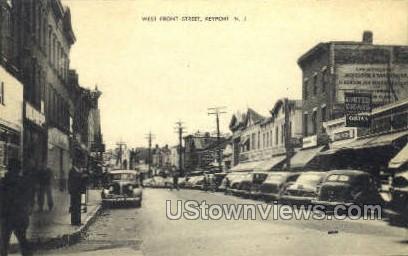 Front Street  - Keyport, New Jersey NJ Postcard