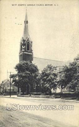 St Josephs Catholic Church  - Keyport, New Jersey NJ Postcard
