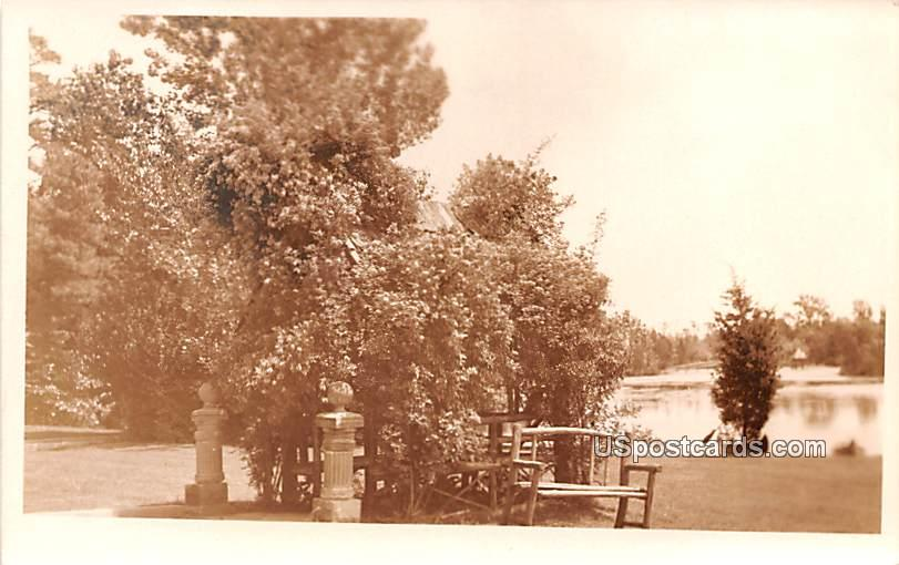 A Seat by the Water - Keswick, New Jersey NJ Postcard