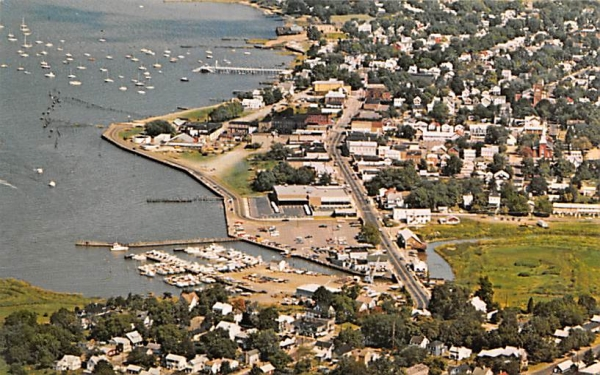 Aerial view of Keyport New Jersey Postcard