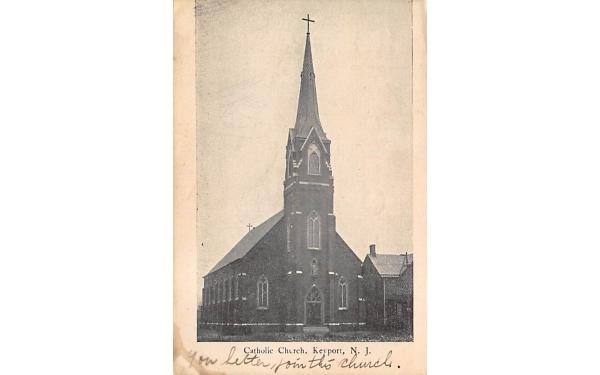 Catholic Church Keyport, New Jersey Postcard