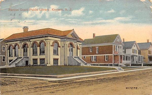 Raritan Guard Public Library Keyport, New Jersey Postcard