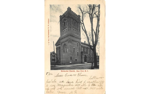 Methodist Church Keyport, New Jersey Postcard