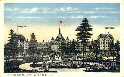 Lake Wood Hotel - Lakewood, New Jersey NJ Postcard