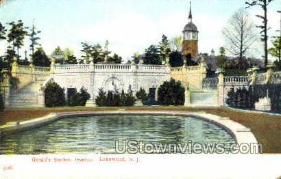 Goulds Sunken Garden  - Lakewood, New Jersey NJ Postcard