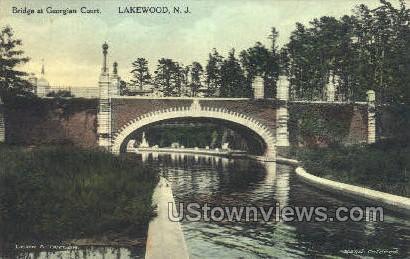 Bridge At Georgian Court - Lakewood, New Jersey NJ Postcard