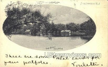 The Boat House - Lakewood, New Jersey NJ Postcard