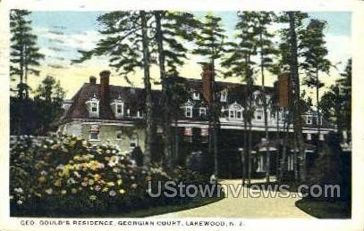 Goulds Residence - Lakewood, New Jersey NJ Postcard