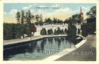Sunken Garden - Lakewood, New Jersey NJ Postcard