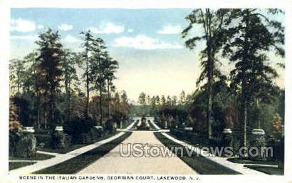 Italian Gardens - Lakewood, New Jersey NJ Postcard