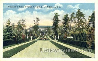 Italian Garden  - Lakewood, New Jersey NJ Postcard