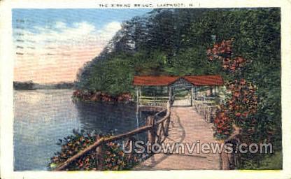 The Kissing Bridge - Lakewood, New Jersey NJ Postcard