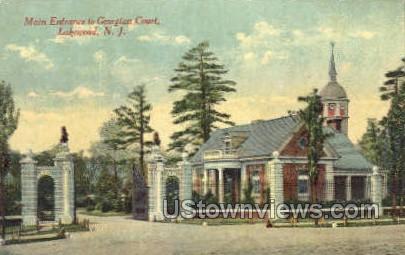 Main Entrance To Georgian Court - Lakewood, New Jersey NJ Postcard