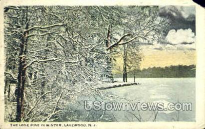 Winter  - Lakewood, New Jersey NJ Postcard