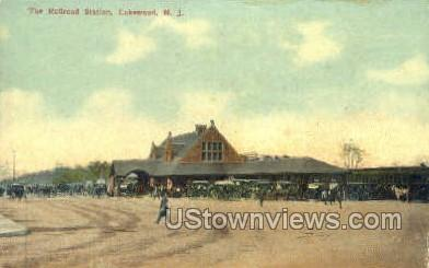 The Railroad - Lakewood, New Jersey NJ Postcard