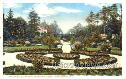 The Puzzle Garden - Lakewood, New Jersey NJ Postcard
