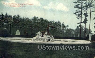 The Fountain - Lakewood, New Jersey NJ Postcard