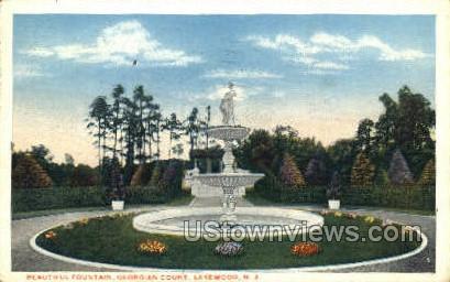 Beautiful Fountain - Lakewood, New Jersey NJ Postcard
