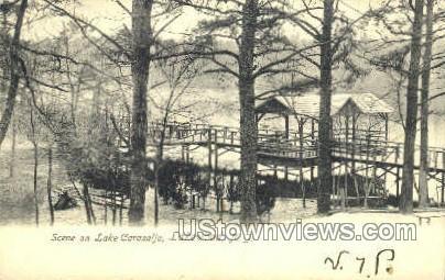 Lake Carasaljo - Lakewood, New Jersey NJ Postcard