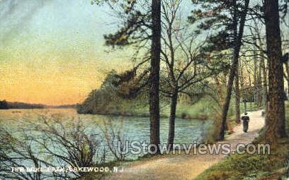 The Lake Path - Lakewood, New Jersey NJ Postcard