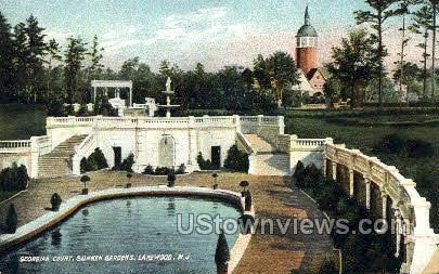 Sunken Gardens - Lakewood, New Jersey NJ Postcard