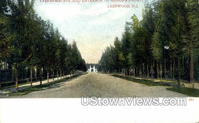 Lakewood Avenue - New Jersey NJ Postcard