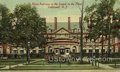 Main Entrance To The Laurel  - Lakewood, New Jersey NJ Postcard