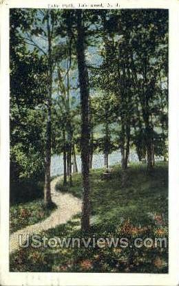 Lake Path - Lakewood, New Jersey NJ Postcard