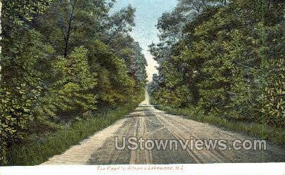 The Road To Allaire - Lakewood, New Jersey NJ Postcard