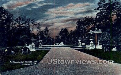 The Fountain Path - Lakewood, New Jersey NJ Postcard