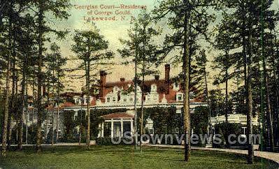 Georgian Court Residence - Lakewood, New Jersey NJ Postcard
