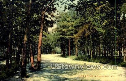 Lake Dirve  - Lakewood, New Jersey NJ Postcard