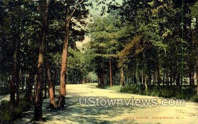 Lake Drive - Lakewood, New Jersey NJ Postcard