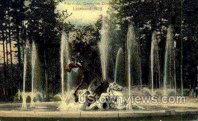 Fountain  - Lakewood, New Jersey NJ Postcard