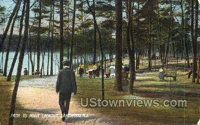 Path To Point Lookout  - Lakewood, New Jersey NJ Postcard