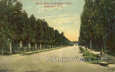 Main Drive  - Lakewood, New Jersey NJ Postcard