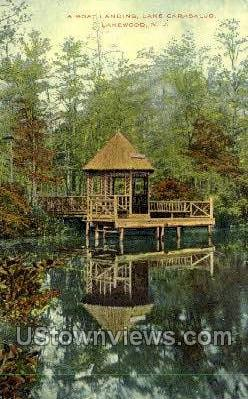 Boat Landing - Lakewood, New Jersey NJ Postcard