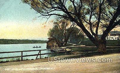 Boat House Lake Carasaljo - Lakewood, New Jersey NJ Postcard