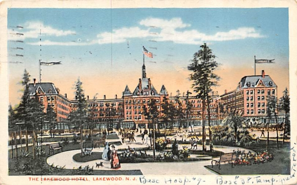 The Lakewood Hotel New Jersey Postcard